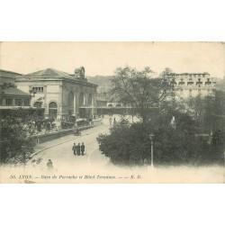 69 LYON. Gare Perrache et Hôtel Terminus 1912