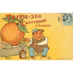 49 ANGERS. Publicité triple-sec Cointreau par Maurice Mercier 1906