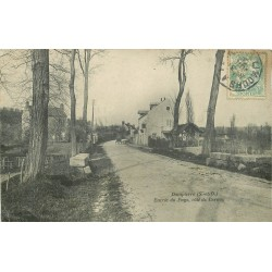 78 DAMPIERRE EN YVELINES. Entrée du Pays côté Cernay 1908
