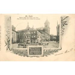 57 SAINT-AVOLD. Coin du Marché et Hôtel de la Poste 1904