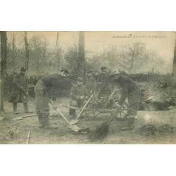 60 ELINCOURT-SAINTE-MARGUERITE. Les Militaires au travail de corvée 1915