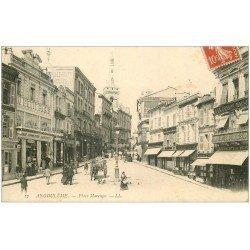 carte postale ancienne 16 ANGOULEME. Place Marengo 1909 à la Grande Maison