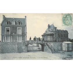14 SAINT-AUBIN-SUR-MER. Le Pont Pasteur animation vers 1905