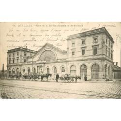 33 BORDEAUX. Gare de la Bastide attelages vers 1903