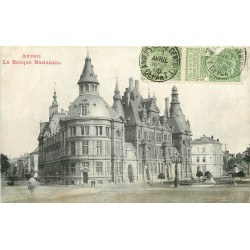sur fortunapost.com ANVERS. La Banque Nationale 1906 carte postale ancienne
