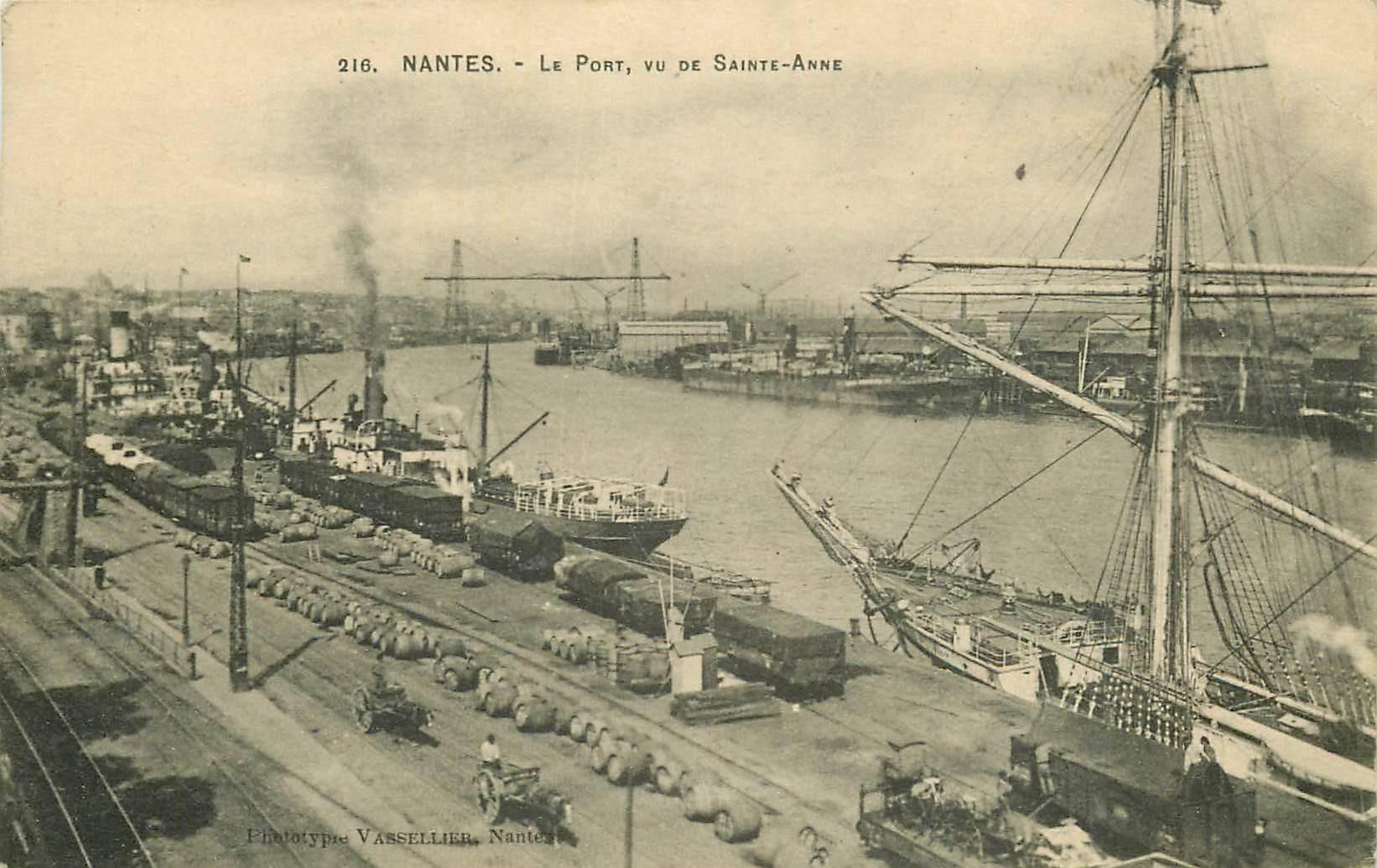 44 NANTES. Le Port vu de Sainte-Anne 1918