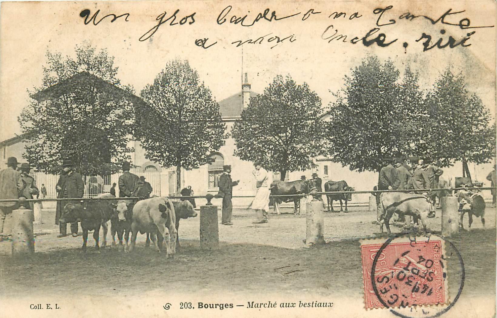 18 BOURGES. Marché aux bestiaux 1904