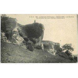 carte postale ancienne 16 ANGOULEME. Rochers Vallée Eaux Claires à Chamoulard