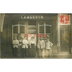 45 PITHIVIERS. Coiffures Postiches Langevin Dardelay Photo carte postale 1911