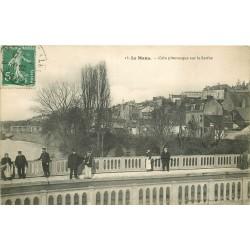 72 LE MANS. Agent de Police sur un Pont sur la Sarthe 1909