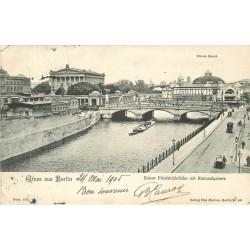 BERLIN. Kaiser Friedrichbrücke mit Nationalgalerie