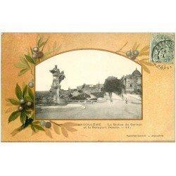 carte postale ancienne 16 ANGOULEME. Statue Carnot et Rempart Desaix 1907. Collection Nouvelles Galeries