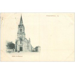 carte postale ancienne 16 ANGOULEME. Superbe, Eglise Saint-Martial. Carte Pionnière 1901