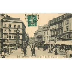 80 AMIENS. Place Gambetta et rue des Sergents 1911