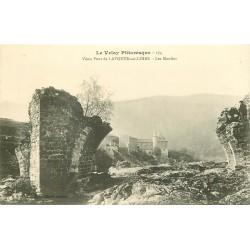 43 LAVOUTE-SUR-LOIRE. Vieux Pont détruit et les Moulins