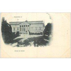 carte postale ancienne 16 ANGOULEME. Superbe, Palais de Justice. Carte Pionnière 1901