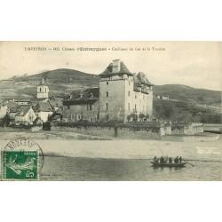 12 ENTRAYGUES. Le Château, Confluent du Lot et la Truyère 1912