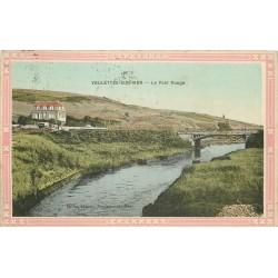 76 VEULETTES-SUR-MER. Le Pont Rouge 1911 en couleur...