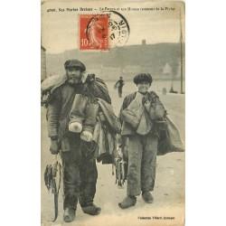 29 AUDIERNE. Le Patron et son Mousse revenant de la Pêche 1917