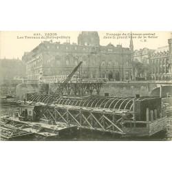 PARIS METROPOLITAIN. Les Travaux Fonçage du Caisson central bras de Seine