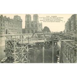 PARIS METROPOLITAIN. Les Travaux fonçage d'un Caisson vers Notre-Dame