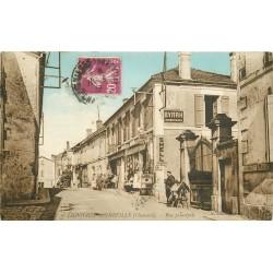 16 LIGNIERES-SONNEVILLE. Rue principale commerce Shell et Byrrh 1933