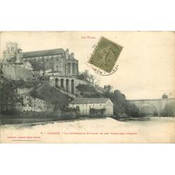 81 LAVAUR. Cathédrale Saint-Alain et les Ponts sur l'Agout 1918
