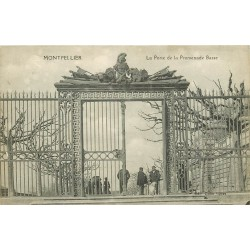 34 MONTPELLIER. Porte de la Promenade Basse 1919