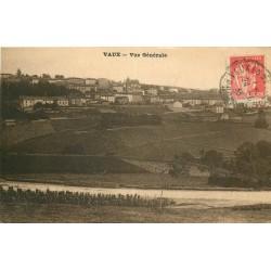 55 VAUX. Vue générale sur le Village 1933
