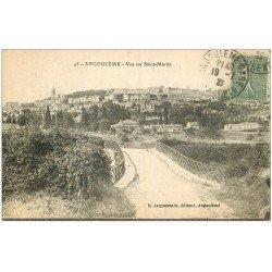 carte postale ancienne 16 ANGOULEME. Vue Saint-Martin 1923