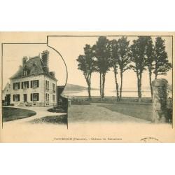 29 PLOUEZOCH. Château de Kercadoret 1928 avec son tampon officiel