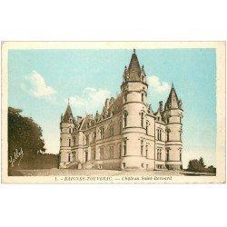 carte postale ancienne 16 BAIGNES-TOUVERAC. Château Saint-Bernard 1945
