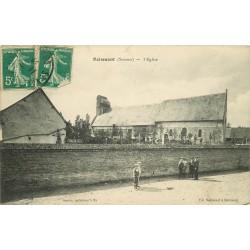 80 BOISMONT. L'Eglise et Cimetière animation 1908