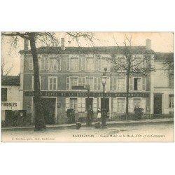 carte postale ancienne 16 BARBEZIEUX. Grand Hôtel de la Boule d'or et du Commerce