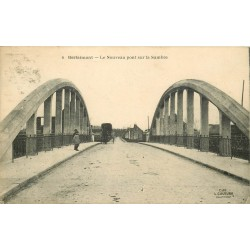 59 BERLAIMONT. Attelage sur le Nouveau pont sur la Sambre 1924