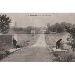 91 OLLAINVILLE. Le Pont sur l'Orge et Egly animation 1907