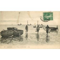 62 BERCK PLAGE. Avant la Pêche préparation des Filets