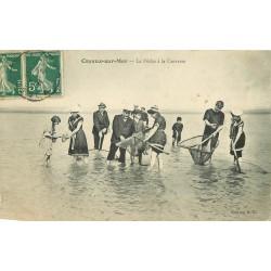 80 CAYEUX. La Pêche à la Crevette 1910