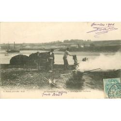 29 LE CONQUET. Brûlage du Goëmon 1906