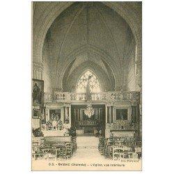 carte postale ancienne 16 BASSAC. Eglise intérieur