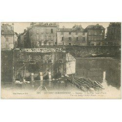 carte postale ancienne 02 SOISSONS. Pont Saint-Waast 1917