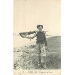 17 LA TREMBLADE. Départ pour les Parcs à Poissons et Crustacés 1920