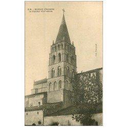 carte postale ancienne 16 BASSAC. Le Clocher 1924