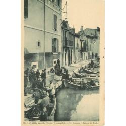 13 MARTIGUES. Retour de Pêche Le Brescon sur Barques de Pêcheurs