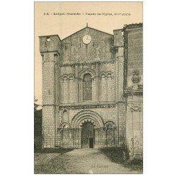 carte postale ancienne 16 BASSAC. L'Eglise