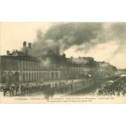 35 RENNES. Incendie du Palais du Commerce Hôtel des Postes et Télégraphes en 1911