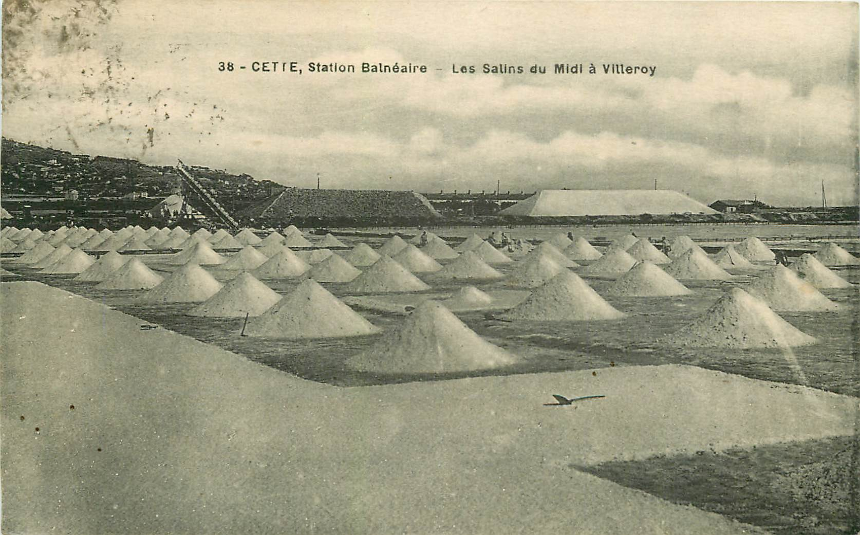 34 CETTE SETE. Les Salins du Midi à Villeroy 1924