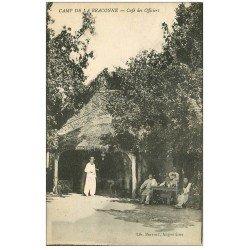 carte postale ancienne 16 Camp de BRACONNE. Café des Officiers