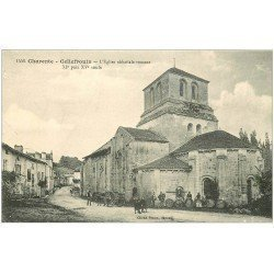 carte postale ancienne 16 CELLEFROUIN. Eglise abbatiale et tonneaux de vins