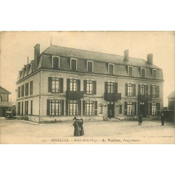 14 ASNELLES. Hôtel Belle-Plage 1927 carte facture restaurant